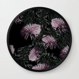Night Floral Wall Clock