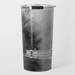 Misty Lake in black and white - 35mm film Travel Mug