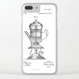 Vintage Print Coffee Urn Clear iPhone Case