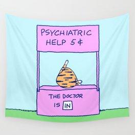 FELINE PSYCHIATRIC HELP Wall Tapestry