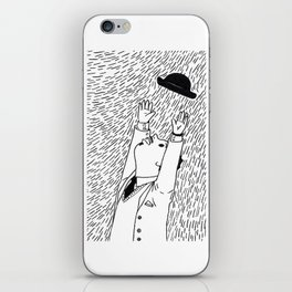 A Man In The Windy City iPhone Skin