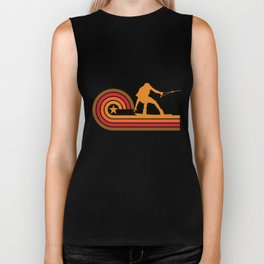 Retro Style Wakeboarder Silhouette Wakeboarding T-Shirt Biker Tank