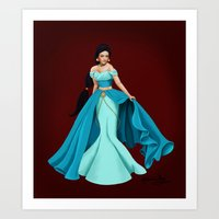 jasmine Art Prints featuring Jasmine by Katherine Mary