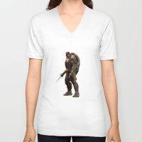 ninja turtle V-neck T-shirts featuring ninja,turtle by ira gora