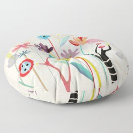 Merry Christmas Bird  Floor Pillow