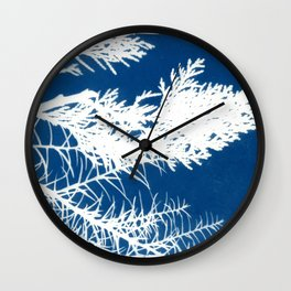 Cyanotype Wall Clock