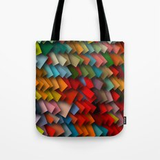 colorful rectangles with shadows Tote Bag