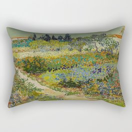 Vincent van Gogh's Garden at Arles Rectangular Pillow