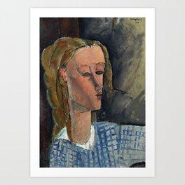 "Amedeo Modigliani ""Beatrice Hastings"", 1916 Art Print"