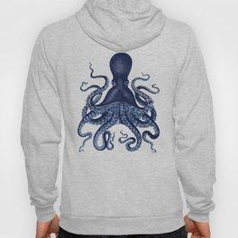 Watercolor blue vintage octopus Hoody