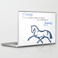 courage Laptop & iPad Skins featuring Courage by brazilian_showjumper