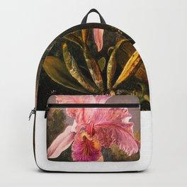 Martin Johnson Heade Cattleya Orchid and Three Brazilian Hummingbirds Backpack
