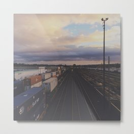 Brooklyn Train Yard - Portland Oregon Metal Print