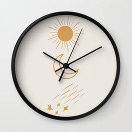 Sun, Moon and Stars #society6 #buyart Wall Clock