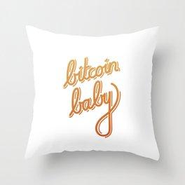 bitcoin baby   [color] Throw Pillow