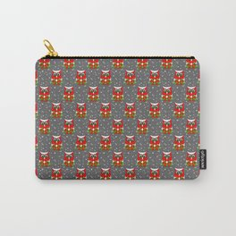 Christmas Snow Owl Pattern Carry-All Pouch