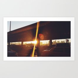 Sun Glare City Art Print