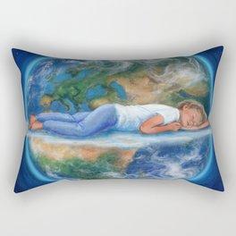 In His hands Rectangular Pillow