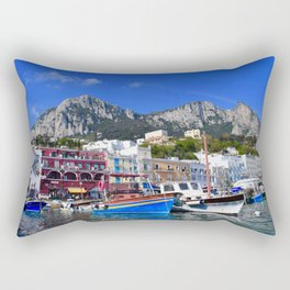 The Beach in Capri, Italy Rectangular Pillow