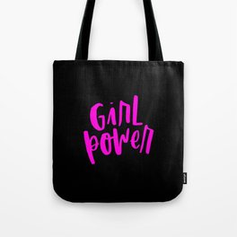 Girl Power 2 Pink and Black Tote Bag