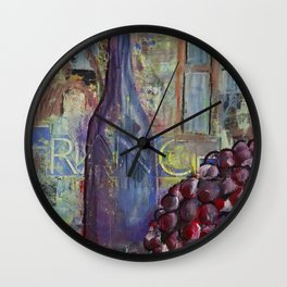 Wine collage Wall Clock