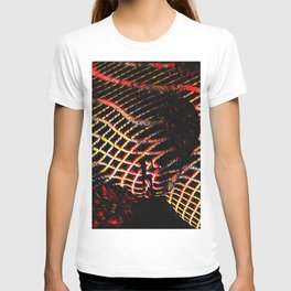 5502s-MAK Space Time Vulva Abstract Art Rendered in Acrylic by Chris Maher T-shirt