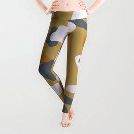 Vintage Bronze Abstract Cut Paper Leggings