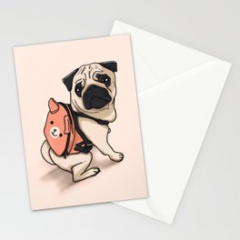 Pug Back to School Stationery Cards