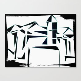 Building Shadows Canvas Print