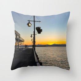 Seattle twilight -3 Throw Pillow