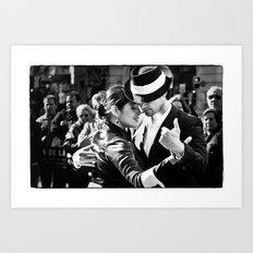 Tango Couple  Art Print