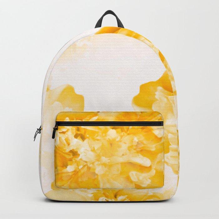 Beautiful Peony Flowers White Background #decor #society6 #buyart Backpack