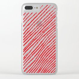 Candy Cane (The raw version) - Christmas Illustration Clear iPhone Case