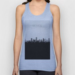 City Skylines: Baltimore (Alternative) Unisex Tank Top