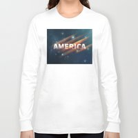 america Long Sleeve T-shirts featuring America  by politics