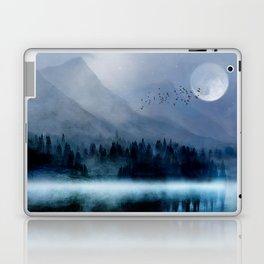 Mountainscape Under The Moonlight Laptop & iPad Skin