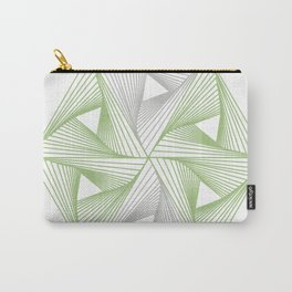 Optical illusion forming hexagon with triangles- Line composition forming different shapes Carry-All Pouch