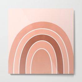 Rainbow arc - neutrals Metal Print