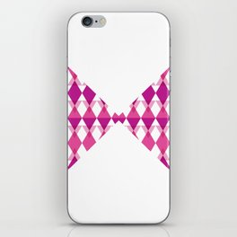 A Pink Bow Tie iPhone Skin