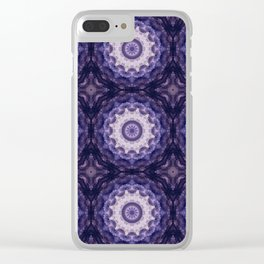 Round ornament in purple tones . Clear iPhone Case