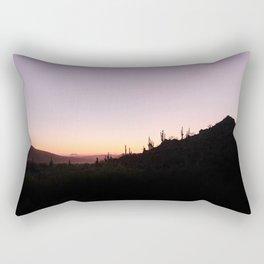 Desert Sunset Silhouette Rectangular Pillow