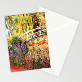 """Claude Monet """"Water lily pond, water irises"""" Stationery Cards"""