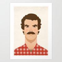 tom selleck Art Prints featuring Tom Selleck by Sezgi Abat