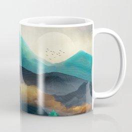Green Wild Mountainside Coffee Mug