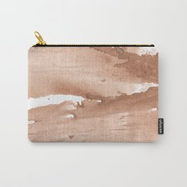Tan nebulous wash drawing pattern Carry-All Pouch