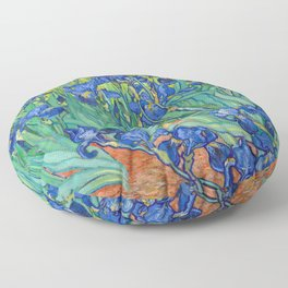 Vincent Van Gogh Irises Painting Floor Pillow