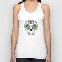 sugar skull Tank Tops featuring Sugar Skull by Liz Urso