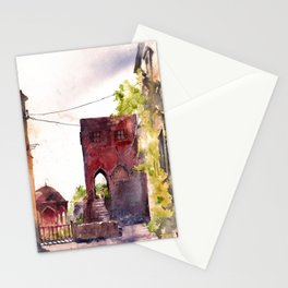 Rhodes old town streets Stationery Cards