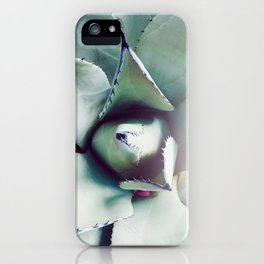 Succulent Love - Agave Green Gray iPhone Case