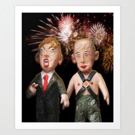 Donald & Vladimir. We Did It! Art Print